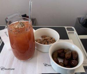 Virgin Australia Business Class to Bali - Post Departure Drink